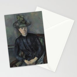 Madame Cézanne with Green Hat Stationery Cards