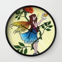 Rose Fairy Wall Clock