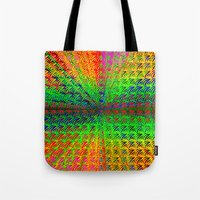 psychedelic Tote Bags featuring Psychedelic by Debbie Clayton