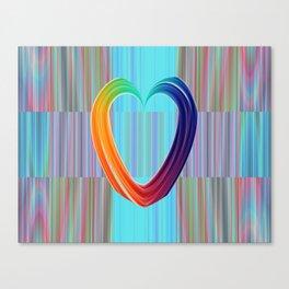 Fractal Art- Pattern Art- Heart Art- Blue Hearts-Pixxie Stixx- LGBT Art- Love- Healing Energy Art Canvas Print