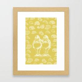 Tweedledum, Tweedledee and Caps Framed Art Print