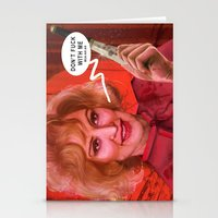 jessica lange Stationery Cards featuring Don't fuck with the Lange by Sabuchan