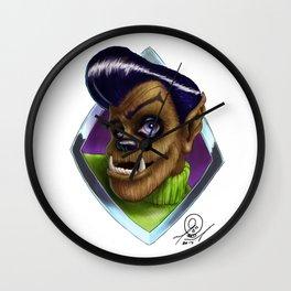 Scott J. Wolf Portrait Wall Clock