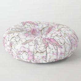 Silver peony dreams Floor Pillow