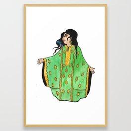 Woman In Green Thobe Framed Art Print