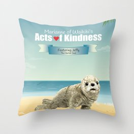 Jeffy The Harbor Seal Throw Pillow