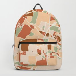 VENICE ITALY CITY MAP EARTH TONES Backpack