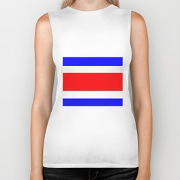 Flag of Costa Rica Biker Tank