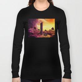 Ape Men meet Monolith - 2001 A Space Odyssey Long Sleeve T-shirt