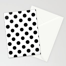 Polka Dots (Black/White) Stationery Cards