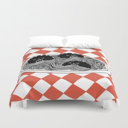 Hungry Hungry Meatballs Duvet Cover