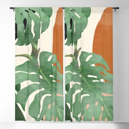 Tropical Leaves- Abstract Art  Blackout Curtain