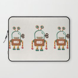 Silly Wind-up Robot Toy Laptop Sleeve