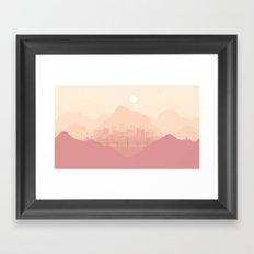 Clear morning Framed Art Print