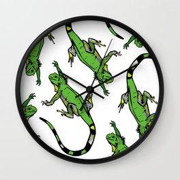 Rainforest Collection - Iguanas Wall Clock