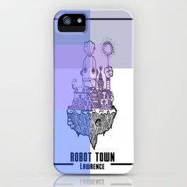 Robot Town color iPhone Case