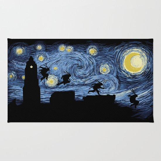 Starry Fight Rug