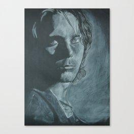 Ville Valo portrait on black Canvas Print