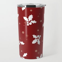 Red christmas pattern Travel Mug