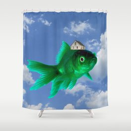 Flying Fish House Shower Curtain
