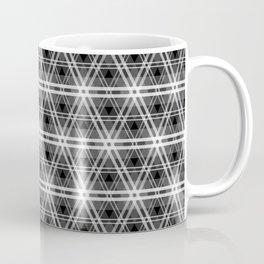 Black and White Egyptian Triangle Pyramid Check Coffee Mug
