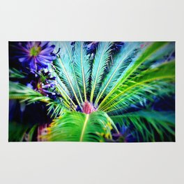 Tropical Plants and Flowers Rug