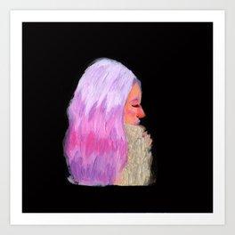 Pink Hair! Art Print