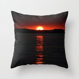 Sunset On Rehoboth Bay Throw Pillow