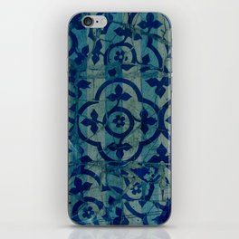 mosaic in cyan iPhone Skin