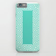 Greek Key turquoise iPhone 6s Slim Case