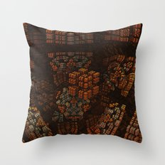 The Copper Archive Throw Pillow