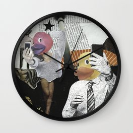 Duckface Selfie Wall Clock