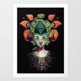 Ix-chel Godess of the Moon Art Print