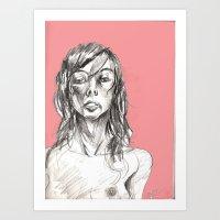 Sensual Magenta Art Print