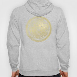 flower power: variations in periwinkle & gold Hoody