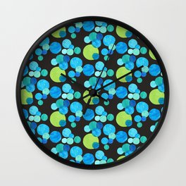 Blue Moons Wall Clock