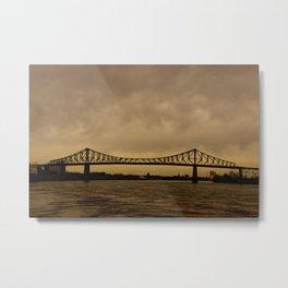 Pont JacquesCartier Metal Print