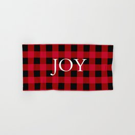 Joy Red Buffalo Check Hand & Bath Towel