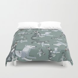 Totem Canadian wolf 1 Duvet Cover