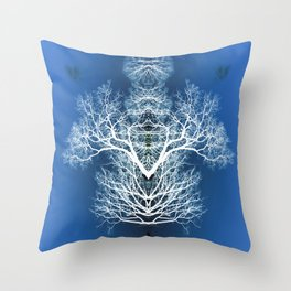 Silhouetted tree pattern Throw Pillow