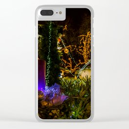Christmas colors Clear iPhone Case