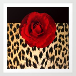 Leopard Rose by Lika Ramati Art Print