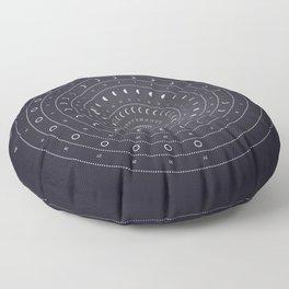 2019 Lunar Phases Calendar Floor Pillow