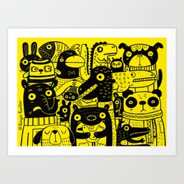 Never Happy Art Print