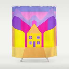 The House Between The Rocks Shower Curtain