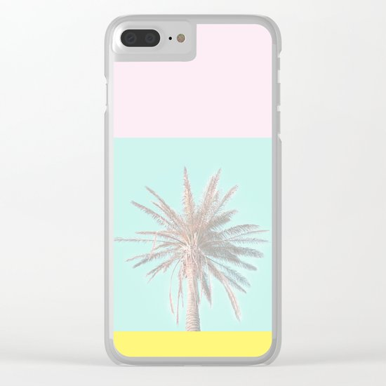 Pastel Candy Palm Clear iPhone Case