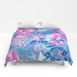 Pastel Watercolor Flowers Comforters