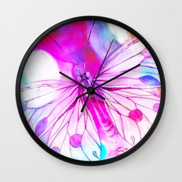 butterfly painting Wall Clock