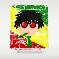 reggae Shower Curtains featuring Reggae Kazoo by mailboxdisco