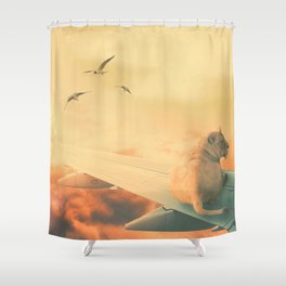 Lion Airlines Flight by GEN Z Shower Curtain